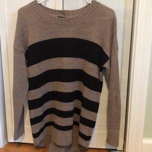Black and Tan striped sweater